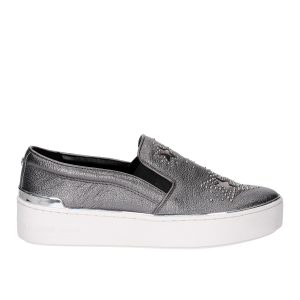 Michael KorsTyson Slip On Metallic Star leather Gun Metal-2