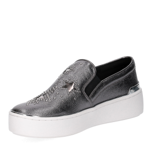 Michael KorsTyson Slip On Metallic Star leather Gun Metal-4