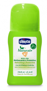 CHICCO NATURAL - ROLL ON ANTI ZANZARA RINFRESCANTE E PROTETTIVO 60 ML