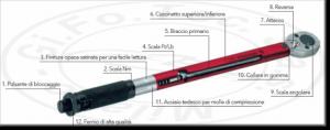 Chiave dinamometrica con quadro 3/8