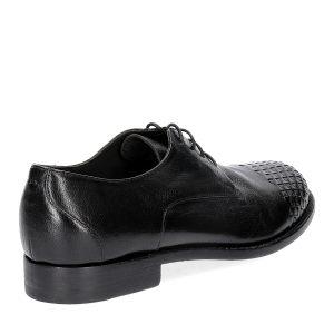 Pantanetti stringata 10466E pelle nera-5