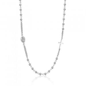 Luca Barra - Collana rosario in acciaio con sfere acciaio