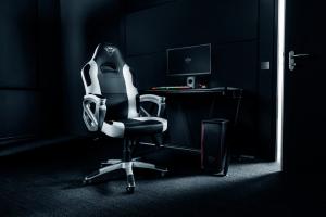 Trust GXT 705W Sedia da gaming per PC Nero, Bianco
