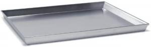 Teglia da forno rettangolare bassa in alluminio cm.60x40x3h