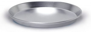 Teglia conica bassa in alluminio cm.3,5h diam.30