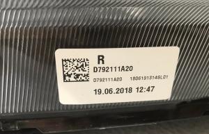 Fanale Proiettore NEON Anteriore DX HYUNDAI TUCSON Anno 2019