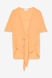 Camicia in viscosa con nodo