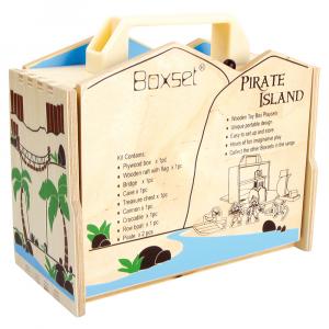Isola dei pirati da viaggio in legno