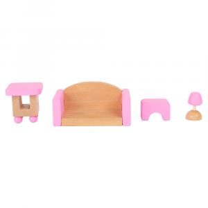 Casa delle bambole pieghevole Giocattolo in legno