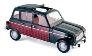 Renault 4 Parisienne 1964 Black & Red 1/18