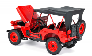 Jeep 1942 Red 1/18