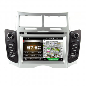 ANDROID 10 autoradio 2 DIN navigatore per Toyota Yaris 2005-2011 GPS DVD USB WI-FI Bluetooth Mirrorlink