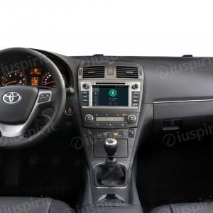 ANDROID 10 autoradio 2 DIN navigatore per Toyota Avensis 2009-2014 GPS DVD USB WI-FI Bluetooth Mirrorlink