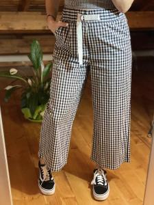 Pantaloni Vicolo Quadretti Taglia M