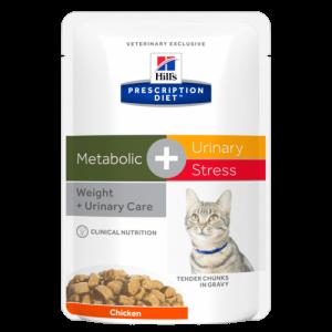 Hill's - Prescription Diet Feline - Metabolic+Urinary Stress - box 12 buste x 85gr