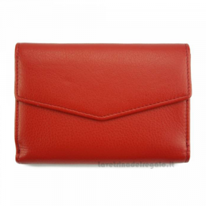 Portafoglio donna Rosso in pelle - Isotta - Pelletteria Fiorentina