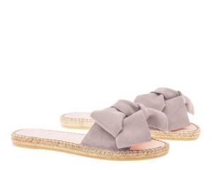 Sandali fiocco pelle champagne beige - MANEBI