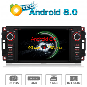 ANDROID autoradio navigatore per Jeep Compass Commander Grand Cherokee Wrangler Unlimited Chrysler Dodge GPS DVD WI-FI Bluetooth MirrorLink