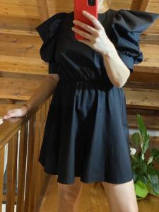 Vestito Vicolo con manica a sbuffo e apertura sulla schiena