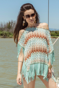 SHOPPING ON LINE PHO FIRENZE PONCHO IN RACHEL NEW COLLECTION WOMEN'S SPRING SUMMER 2020
