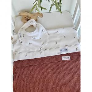 Set lenzuola per culla Bedsheet Mini Bamboom Plume