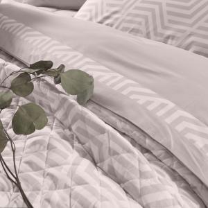 Trapunta Estiva Matrimoniale 270x270 cm Cotone 100% Naturale stampa digitale elegante Trapuntino con disegni geometrici 100% Made in Italy | KYTON