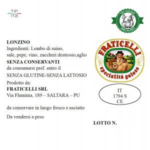 Lonzino Naturale - 500gr/2Kg/4Kg