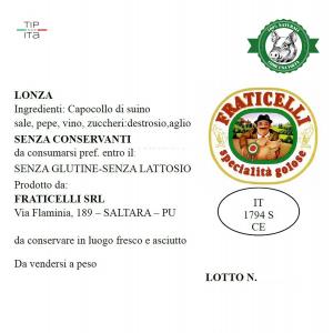 Lonza Naturale - 500gr/2Kg
