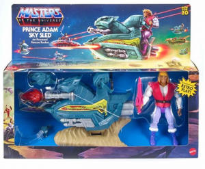 Masters of the Universe ORIGINS: PRINCE ADAM + SKY SLED by Mattel 2020