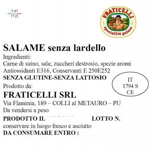 Salame senza Lardelli - 500 gr