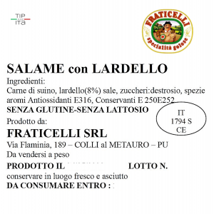 Salame Lardellato - 500 gr
