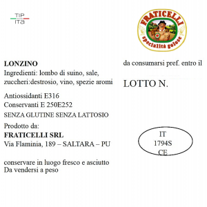 Lonzino  - 500gr/2Kg/4kg