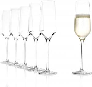 Set da 6 Calici da Champagne cm.22,4h diam.6,3