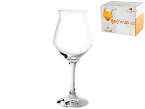 Confezione 6 calici birra bier sommelier in vetro cl 40 cm.21,6h
