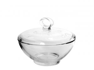 Scatola bonbon portadolci in vetro con coperchio cm.10,5h diam.13