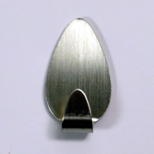 Coppia gancetti adesivi ultraresistenti petalo inox