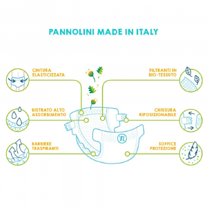 Pannolini ecologici maxi 10-16 kg - 20 pannolini