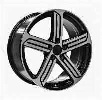 Cerchi in lega  GOLF R 2014  Dedica  VW & SKODA  18''  Width 8   5x112  ET 45  CB 57.1    BLACK / POLISHED
