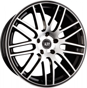 Cerchi in lega  TEC-Speedwheels  GT1  19''  Width 9,5   5x112  ET 30  CB 72,5    Schwarz-Glanz-Frontpoliert