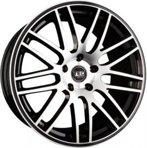 Cerchi in lega  TEC-Speedwheels  GT1  22''  Width 9,5   5x120  ET 35  CB 74,1    Schwarz-Glanz-Frontpoliert