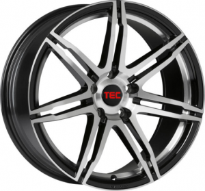 Cerchi in lega  TEC-Speedwheels  GT2  19''  Width 8   5x114,3  ET 40  CB 72,5    Schwarz-Glanz-Frontpoliert