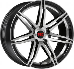 Cerchi in lega  TEC-Speedwheels  GT2  19''  Width 9   5x112  ET 30  CB 72,5    Schwarz-Glanz-Frontpoliert