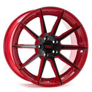Cerchi in lega  Tec-Speedwheels  GT7  20''  Width 8,5   5x120  ET 35  CB 74,1    Rot-Schwarz-Glanz 2 Farbig