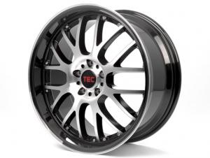 Cerchi in lega  TEC-Speedwheels  GT-AR1  19''  Width 9,5   5x112  ET 30  CB 72,5    Schwarz-Glanz-Frontpoliert