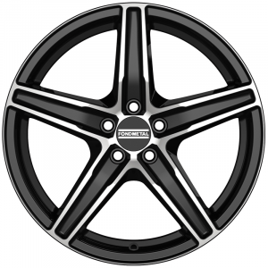 Cerchi in lega  Fondmetal  8100  17''  Width 7.00   5x112  ET 42.00  CB 75.0 Ring Seat    Glossy Black Machined