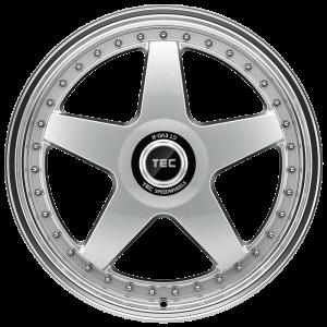 Cerchi in lega  TEC-Speedwheels  GT EVO-R  19''  Width 8,5   5x112  ET 25  CB 72,5    hyper-silber-hornpoliert