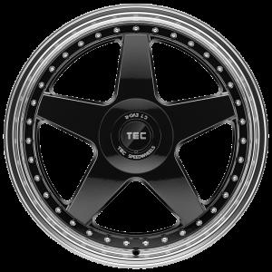 Cerchi in lega  TEC-Speedwheels  GT EVO-R  19''  Width 8,5   5x114,3  ET 45  CB 72,5    schwarz-glanz-hornpoliert