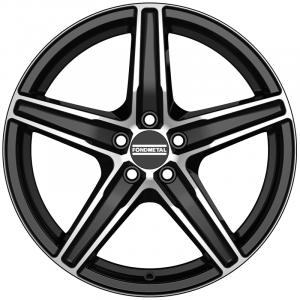 Cerchi in lega  Fondmetal  8100  17''  Width 7.00   5x114.3  ET 42.00  CB 75.0 Ring Seat    Glossy Black Machined