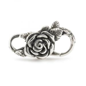 Bracciale in argento Trollbeads,  con Chiusura Rosa