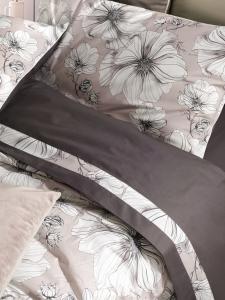 Copriletto Estivo Matrimoniale 270x270 cm in 100% cotone con stampa digitale Trapuntino con fantasia Floreale   Penelope
